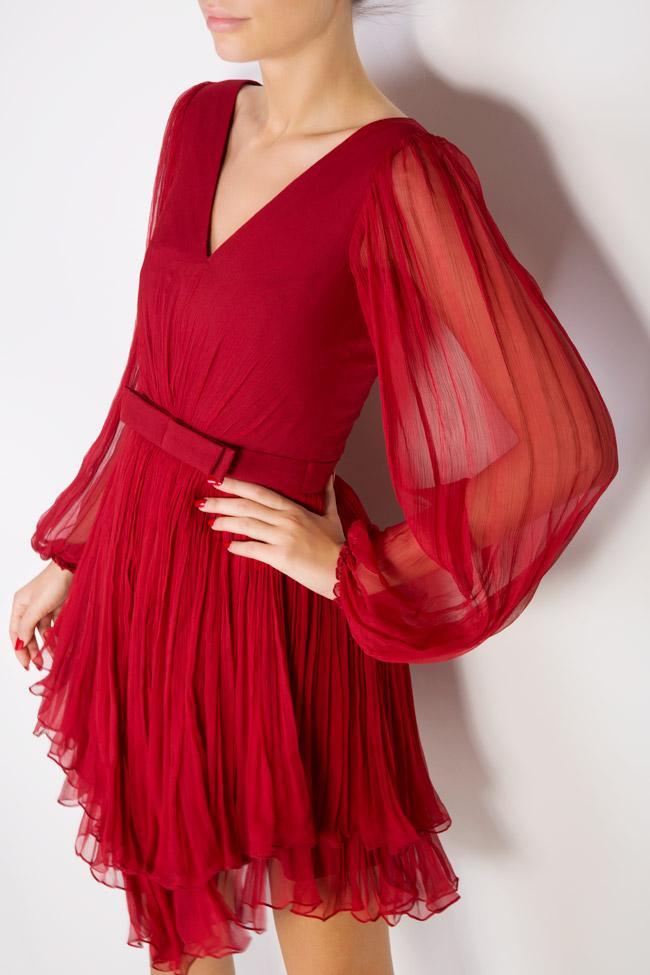 Robe asymétrique en mousseline de soie Maia Ratiu image 3