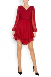 Maia Ratiu Asymmetric silk-mousseline mini dress