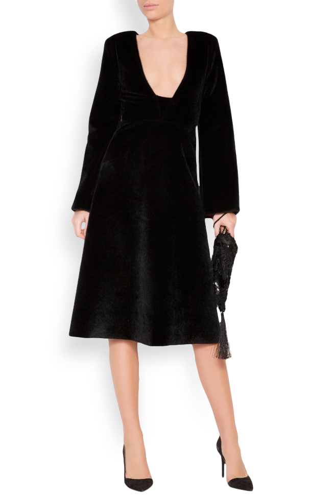 Faux-fur midi dress Lia Aram image 0