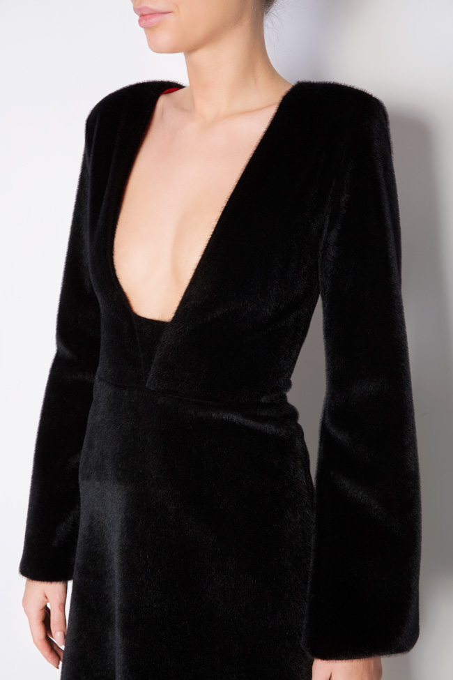 Faux-fur midi dress Lia Aram image 3