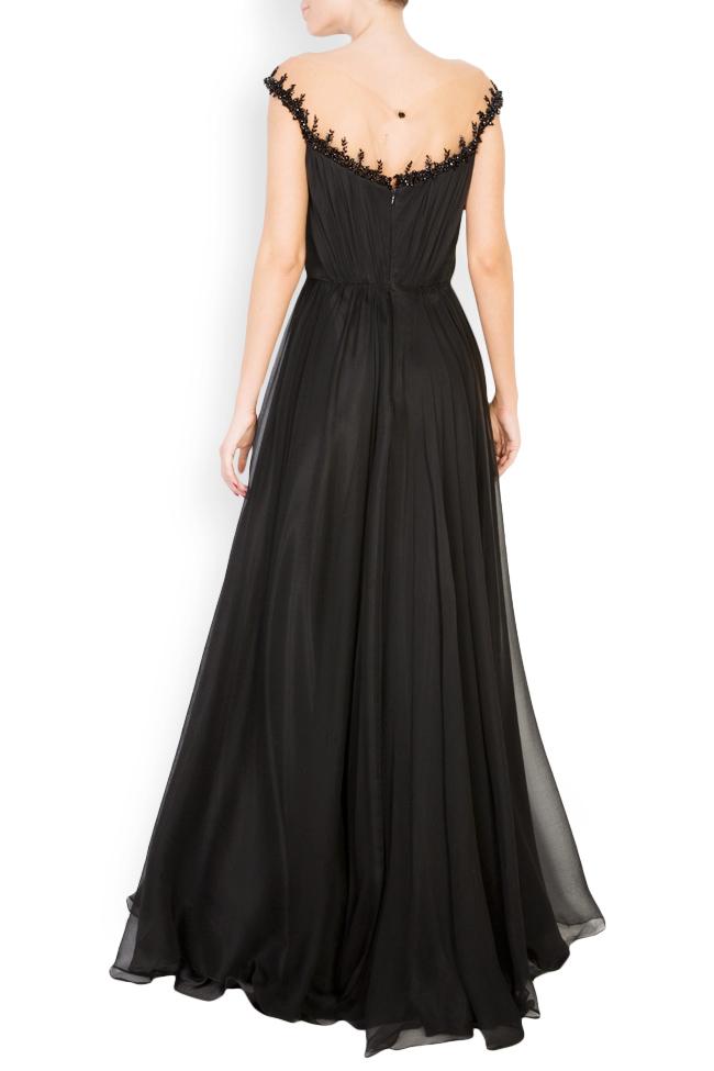 Etolia embellished silk tulle-paneled gown M Marquise image 2