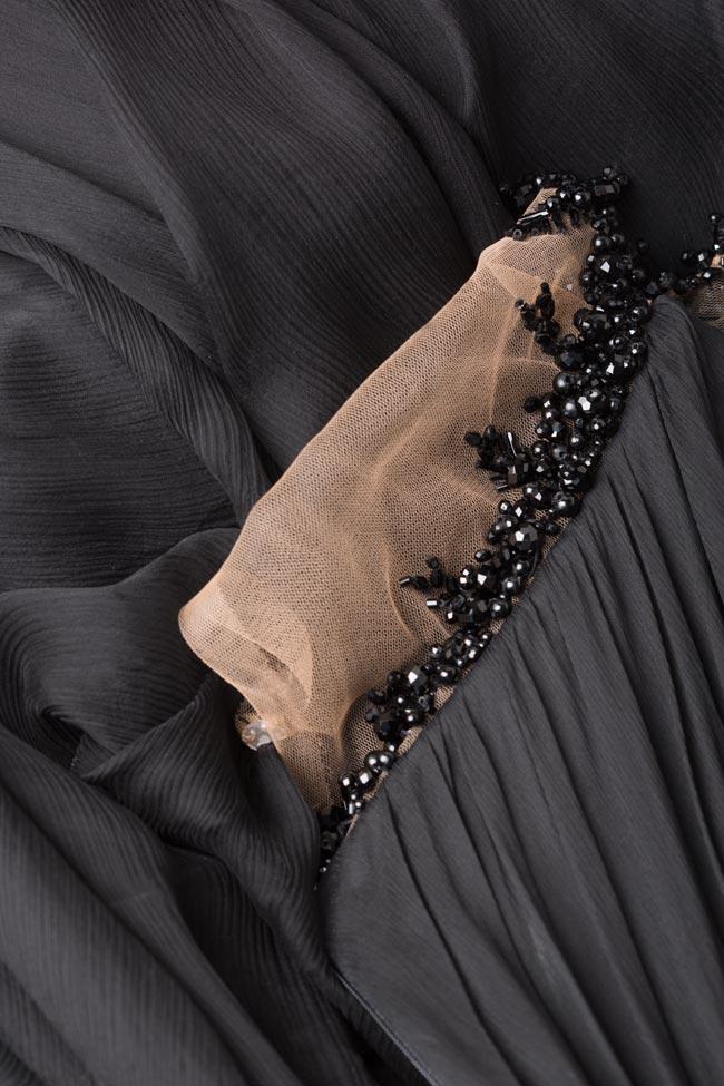 Etolia embellished silk tulle-paneled gown M Marquise image 5
