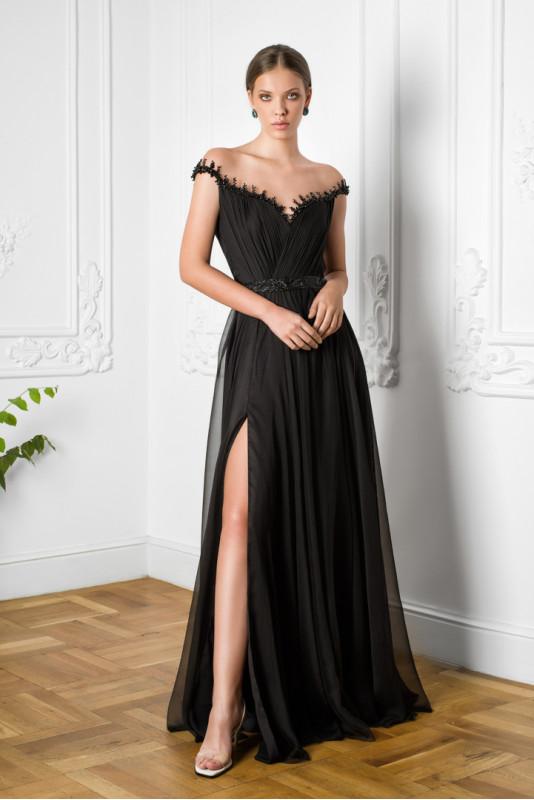 Etolia embellished silk tulle-paneled gown M Marquise image 4