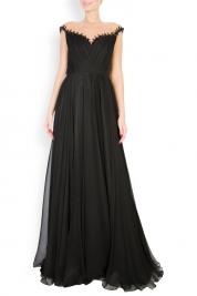 M Marquise Etolia embellished silk tulle-paneled gown
