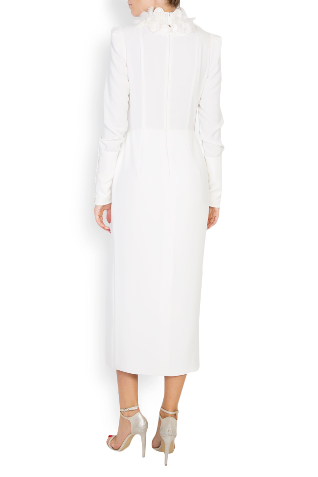 Jaira embroidered crepe midi dress M Marquise image 2