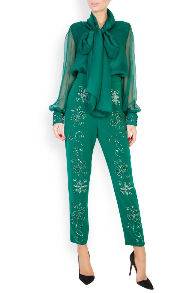 Ilma embellished crepe pants M Marquise image 1