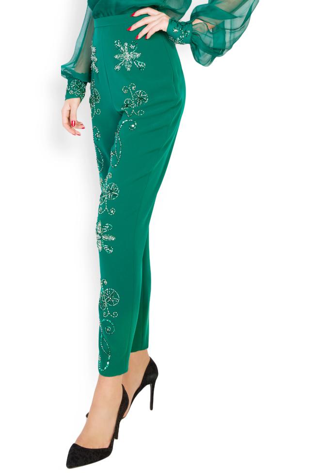 Ilma embellished crepe pants M Marquise image 2
