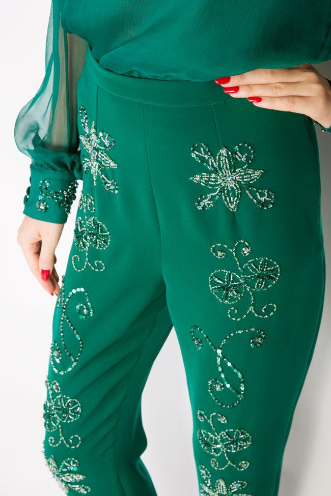 Ilma embellished crepe pants M Marquise image 4
