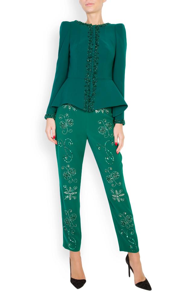 Ilma embellished crepe pants M Marquise image 0