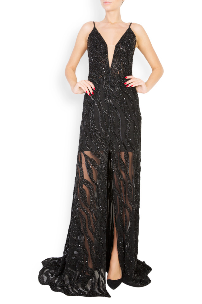 Marissa embellished tulle gown M Marquise image 0