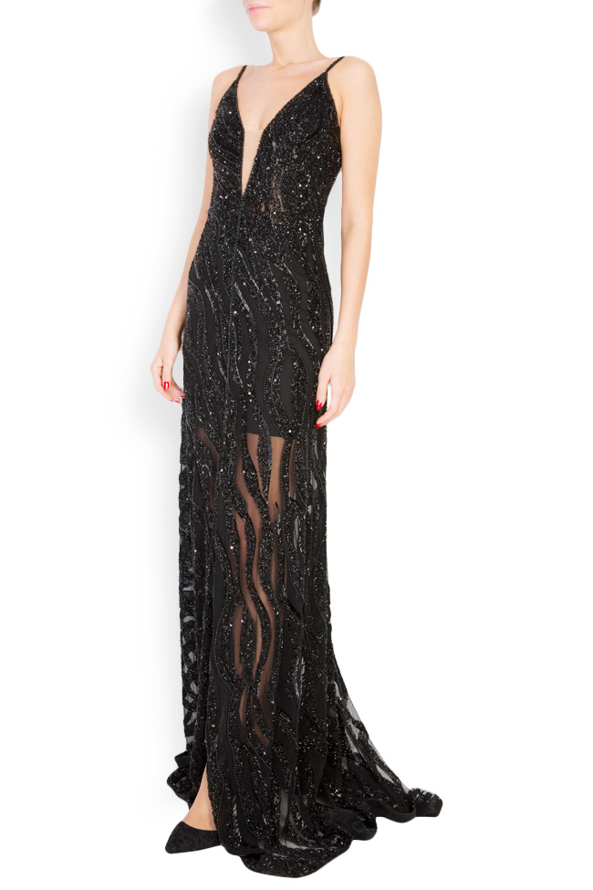 Marissa embellished tulle gown M Marquise image 1