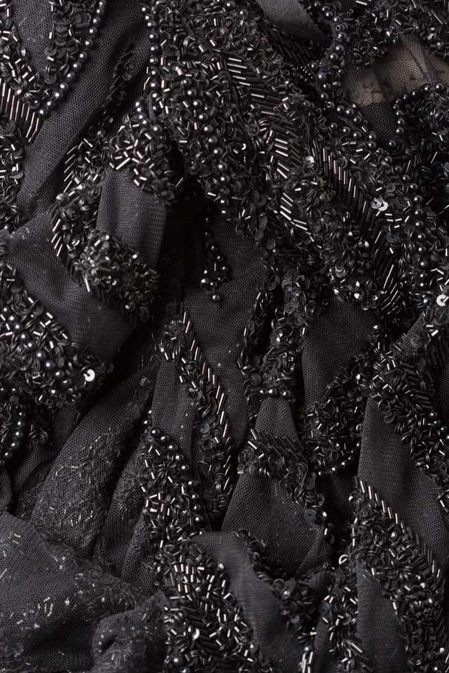 Rochie din tul brodat cu margele Marissa M Marquise imagine 5