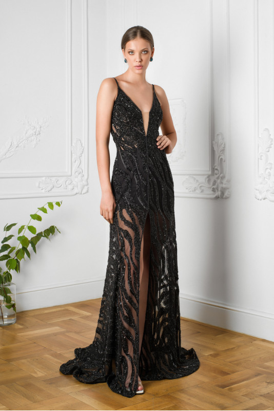 Marissa embellished tulle gown M Marquise image 4