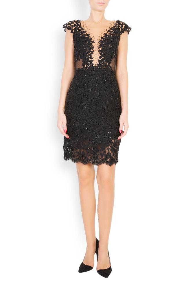 Ranya embroidered tulle and lace dress M Marquise image 0