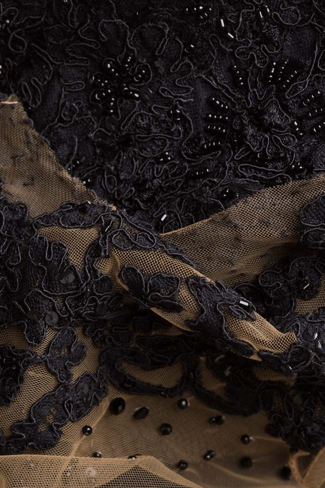 Ranya embroidered tulle and lace dress M Marquise image 5
