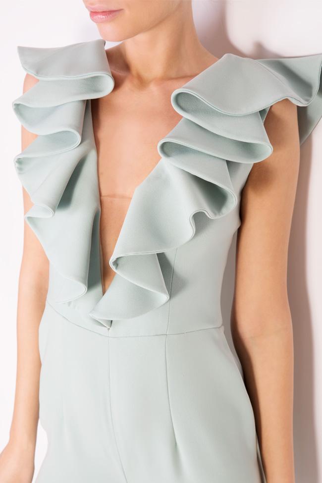Talia ruffled crepe jumpsuit M Marquise image 3