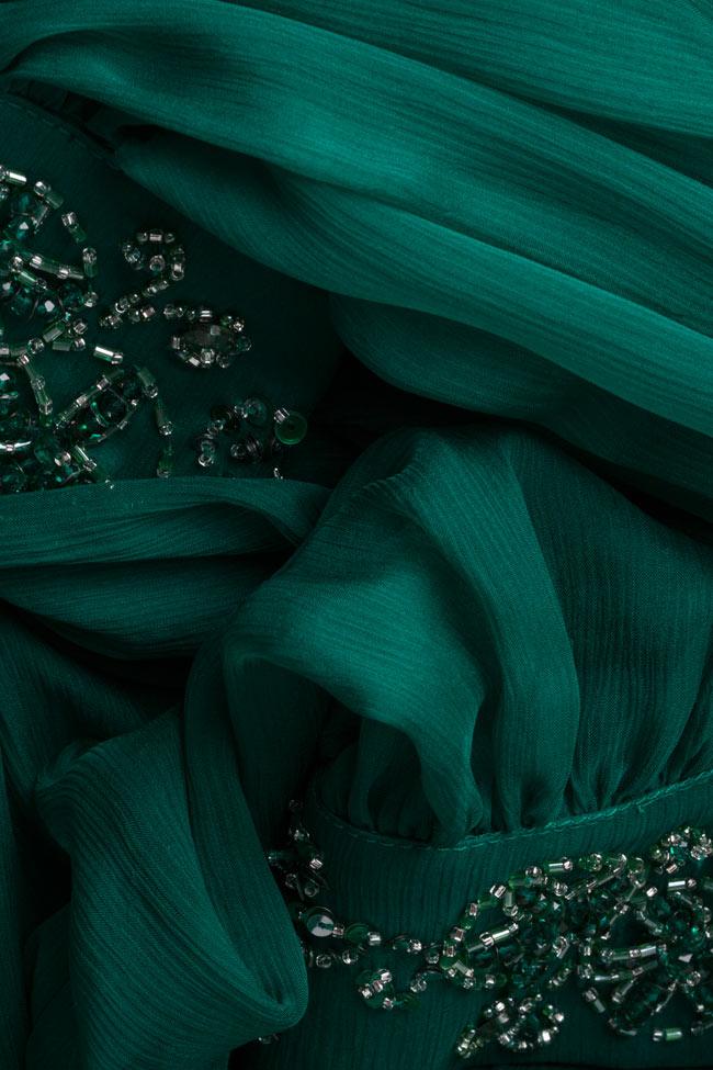 Bluza din voal de matase brodata manual cu cristale Ilma  M Marquise imagine 5