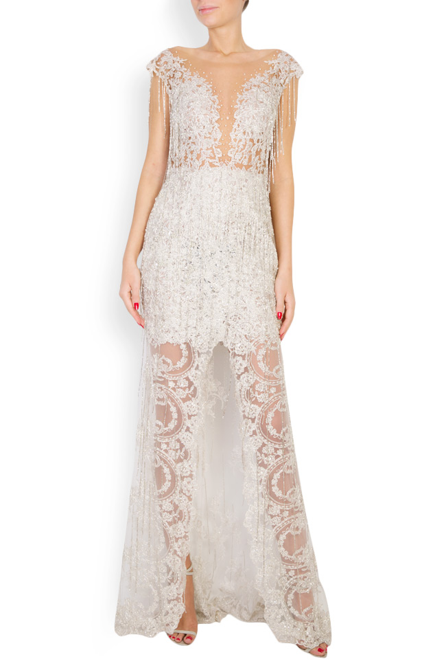 Alena embellished lace gown M Marquise image 0