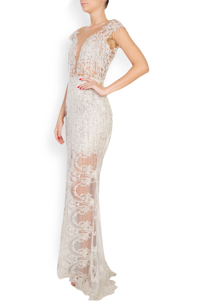 Alena embellished lace gown M Marquise image 1