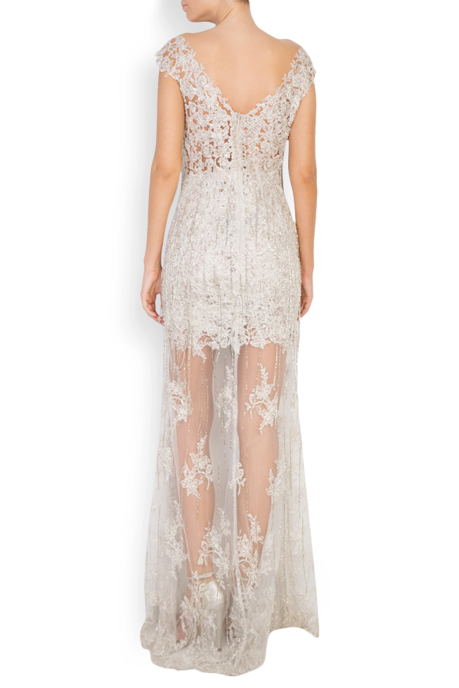 Alena embellished lace gown M Marquise image 2
