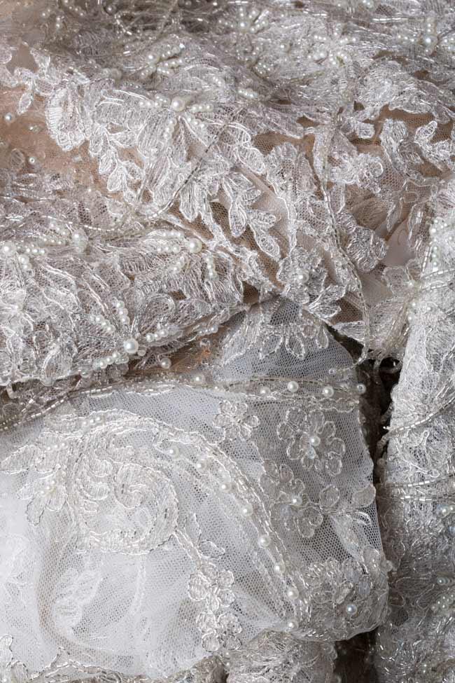 Rochie din dantela brodata manual cu cristale Alena  M Marquise imagine 5