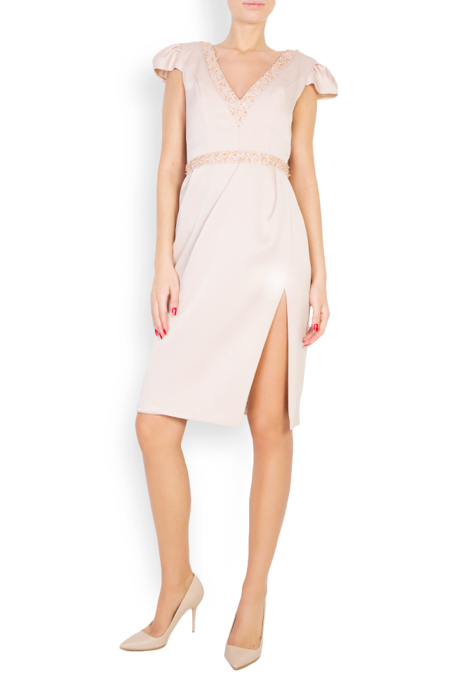 Oana embellished crepe mini dress M Marquise image 0
