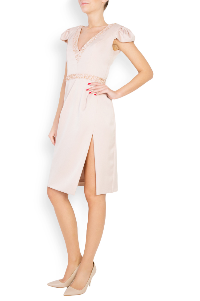 Oana embellished crepe mini dress M Marquise image 1