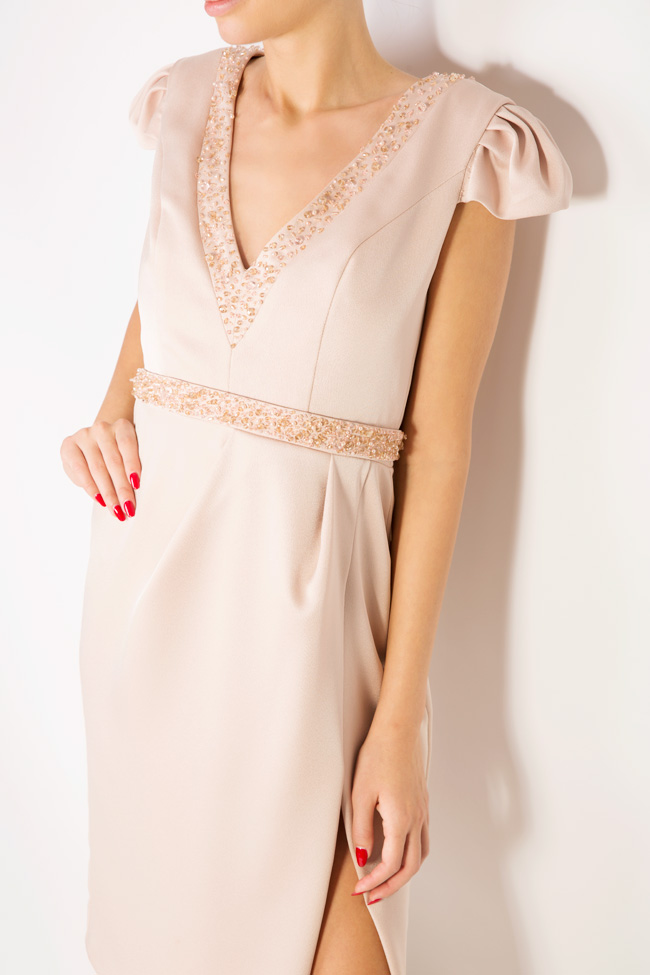 Oana embellished crepe mini dress M Marquise image 3