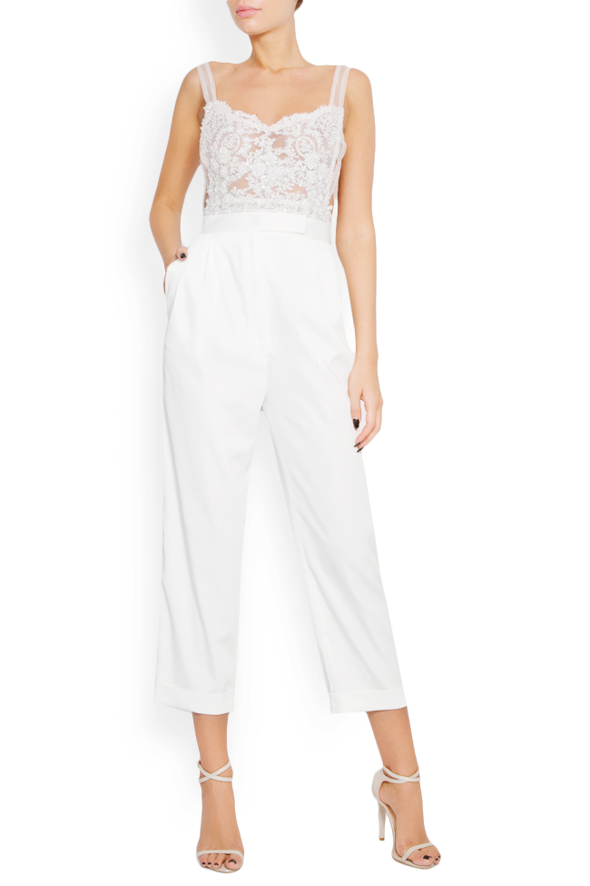 Embellished lace tulle apron top Lia Aram image 0