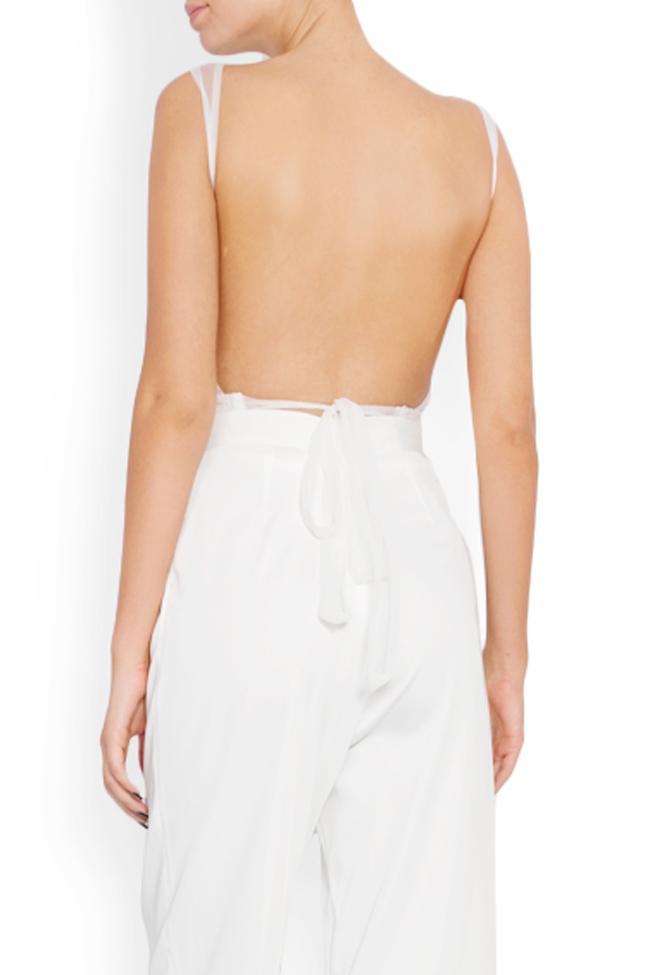 Embellished lace tulle apron top Lia Aram image 2
