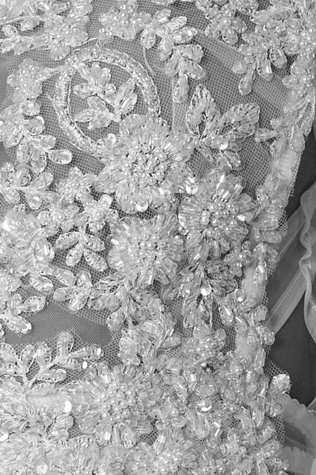 Blouse en tulle brodé avec dentelle et sequins Lia Aram image 4