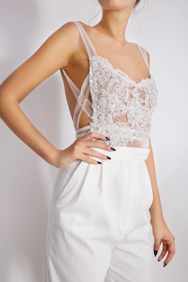 Embellished lace tulle apron top Lia Aram image 3
