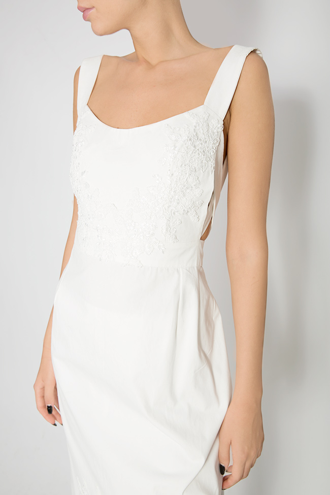Embroidered asymmetric cotton apron top Lia Aram image 3