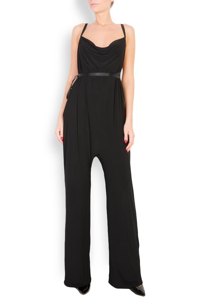 Open-back crepe jumpsuit Lia Aram image 0
