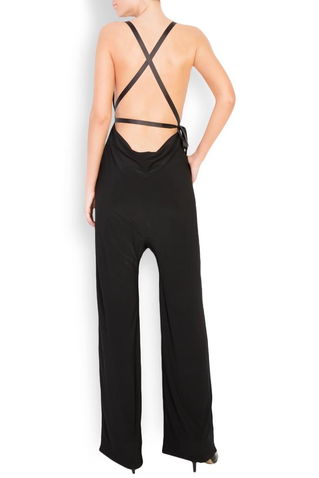 Open-back crepe jumpsuit Lia Aram image 2