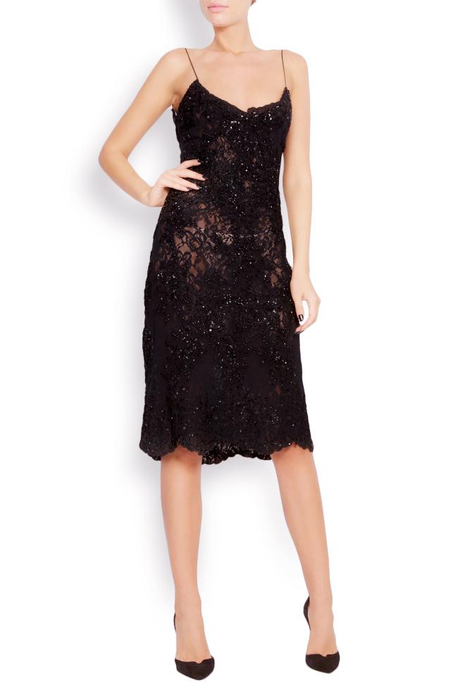 Embellished lace mini dress Lia Aram image 0