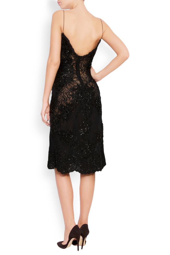 Embellished lace mini dress Lia Aram image 2