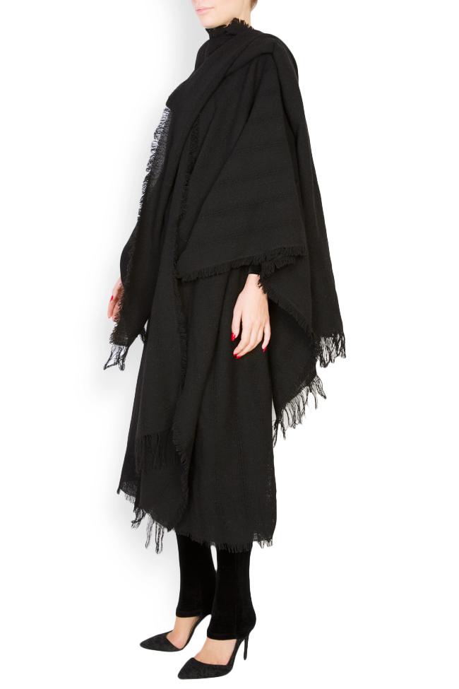 Fringed wool scarf Lia Aram image 1