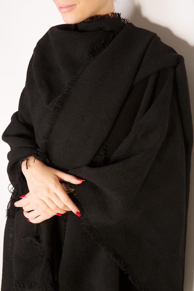 Echarpe en laine avec franges réalisés à la main Lia Aram image 3