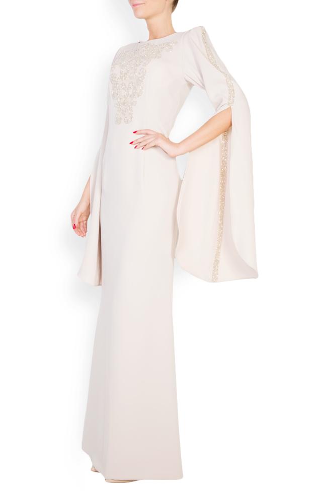 Rochie din crep cu aplicatii din cristale si spatele gol Atelier Maria Iftimoaie imagine 1