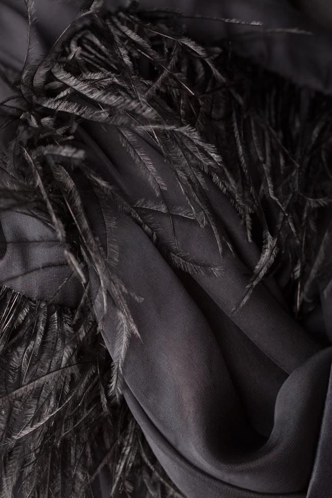 Chemise en soie avec plumes d'autruche Aureliana image 5