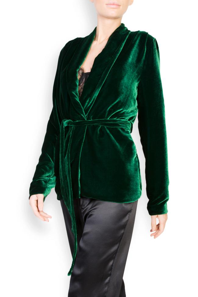 Veste en velours de soie avec cordon Aureliana image 1