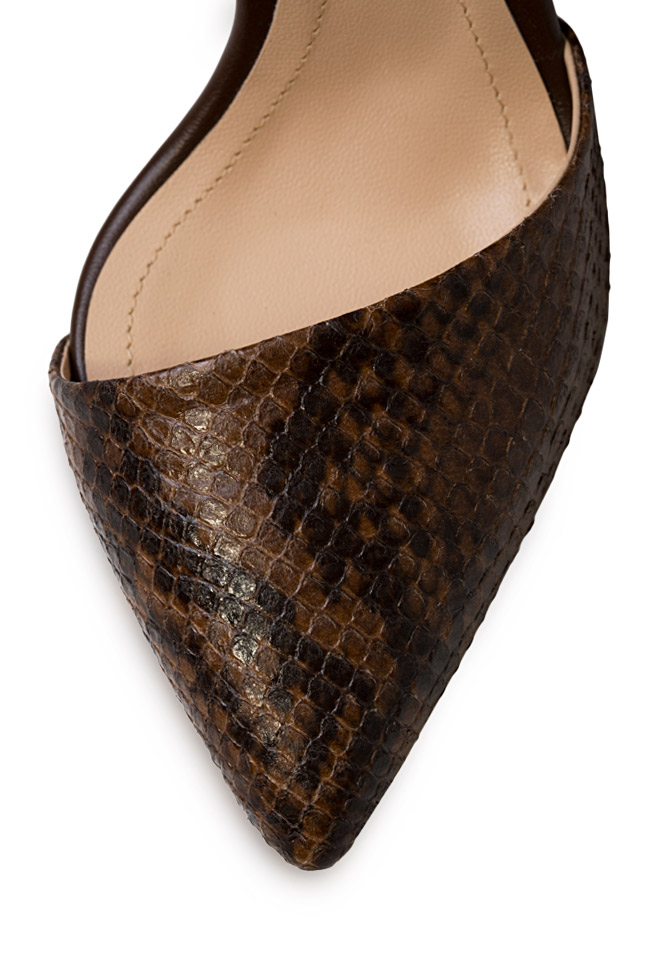 Snake Preview snake-effect leather pumps Hannami image 3