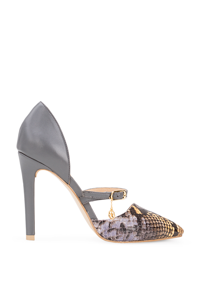 Lady Snake snake-effect leather pumps Hannami image 0