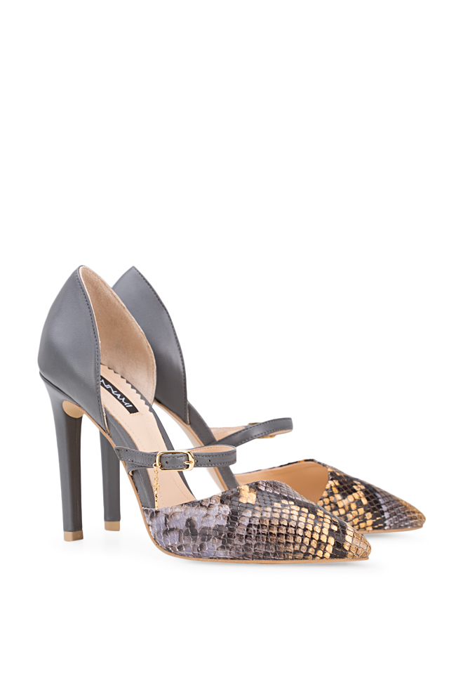 Lady Snake snake-effect leather pumps Hannami image 1
