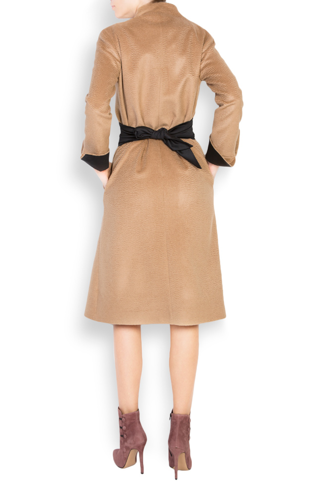 Palton din casmir Standing DALB by Mihaela Dulgheru imagine 2