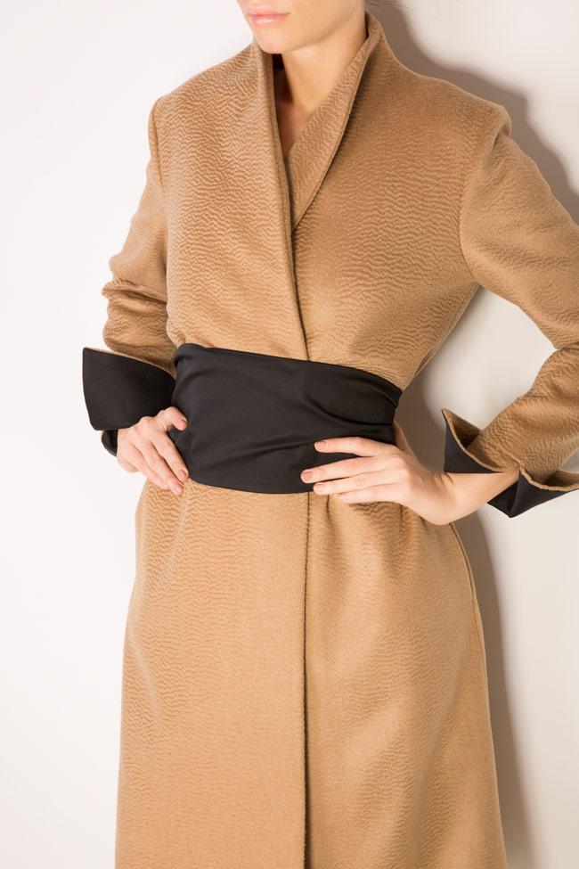 Palton din casmir Standing DALB by Mihaela Dulgheru imagine 3