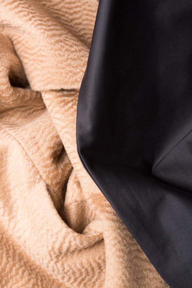 Palton din casmir Standing DALB by Mihaela Dulgheru imagine 4