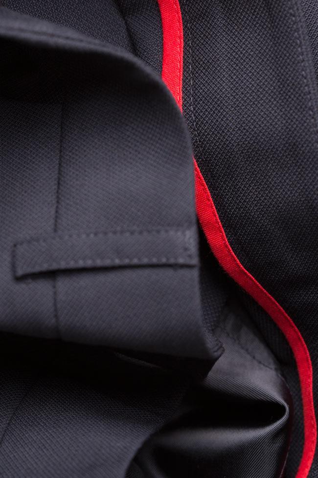 Pantaloni conici din stofa de lana cu manseta  Acob a Porter imagine 4
