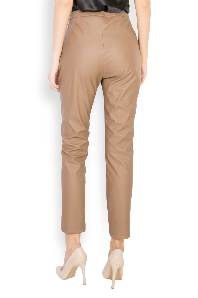 Pantaloni din piele ecologica  Acob a Porter imagine 2